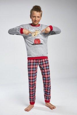 Cornette 966/79 Breakfast Šedé Chlapecké pyžamo