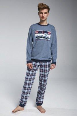 Cornette F&Y boy 967/30 Aston Modrý melanž Chlapecké pyžamo