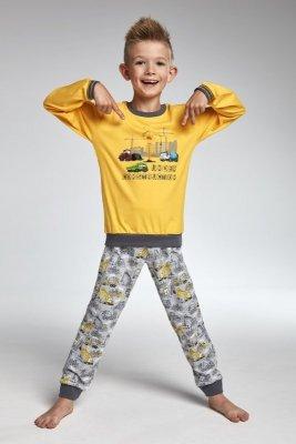 Cornette 593/73 Construction Žluté Chlapecké pyžamo