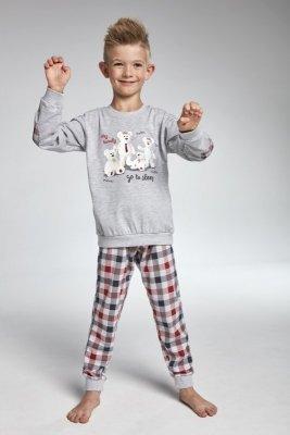 Cornette 174/83 My family Šedé Chlapecké pyžamo