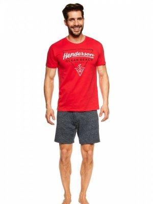 Henderson Jump 36824-33X Červeno-tmavě modré Pánské pyžamo