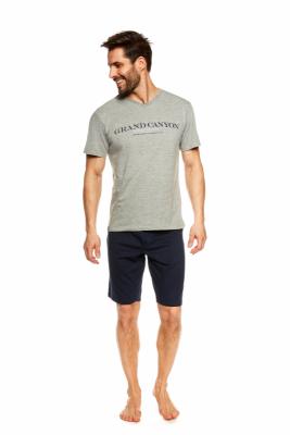 Henderson Urso 36831-90X Šedo-tmavě modré Pánské pyžamo
