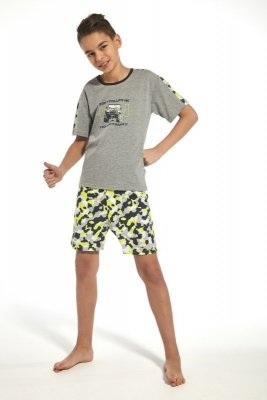 Cornette 217/74 kids jeep melanž Chlapecké pyžamo