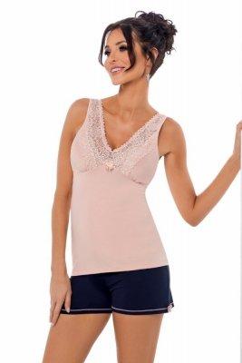Donna Klaudia 1/2 růžová Dámské pyžamo