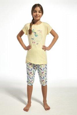 Cornette 251/68 kids dragonfly žluté Dívčí pyžamo