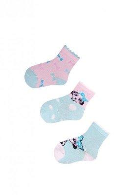 YO! Baby SKC 3-pak A'3 mix dětské ponožky
