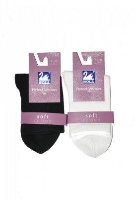 Wola Perfect Woman Soft w 84004 Dámské jednobarevné ponožky