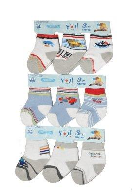 YO! Boys Frotte SKF 0-9 mcy A'3 mix ponožky pro chlapce