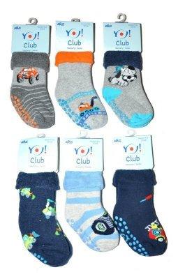 YO! Boys SKF Frotte Wywijane ABS 14-20 A'6 mix Chlapecké ponožky