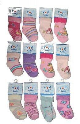 YO! Girls Frotte Wywijane 20-25 mix Dívčí ponožky