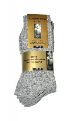 WiK Norweger Wolle art.20110 A'3 Pánské ponožky