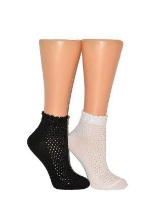 Milena 1115 Dámské ažurové ponožky
