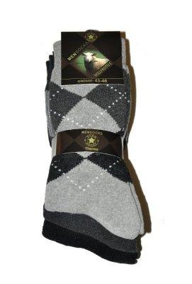 WiK 7508 Vollfrottee A'3 pánské vzorované ponožky