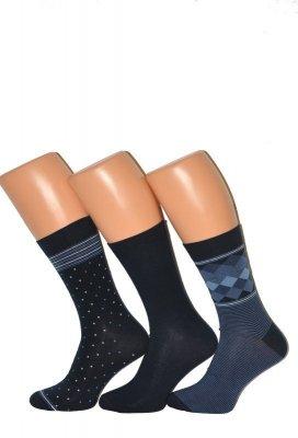 Cornette Premium A40 A'3 pánské vzorované ponožky