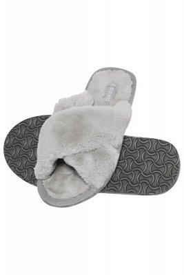 Soxo Otevřené kožešinové pantofle