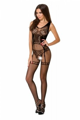 Passion BS052 černý Bodystocking