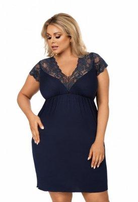 Donna Tess tmavě modrá Noční košile Size Plus