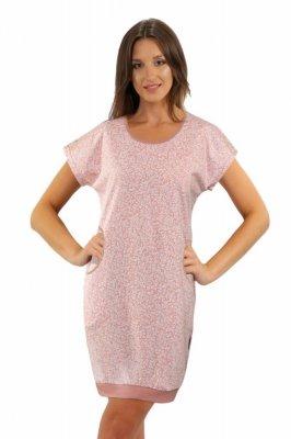 Sesto Senso Julia krátký rukáv růžová Noční košile