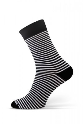 Sesto Senso Finest Cotton proužky/černo/bílé Ponožky