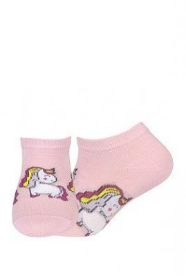 Wola dívčí vzorované W21.01P 2-6 let Ponožky