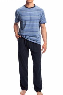 Atlantic NMP-336 modré Pánské pyžamo