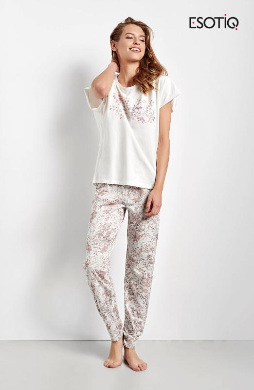 Esotiq Cristal 34546-01X ecru+růžové Dámské pyžamo