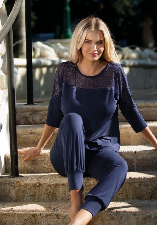 Dkaren Loretta tmavě modrá Dámské pyžamo
