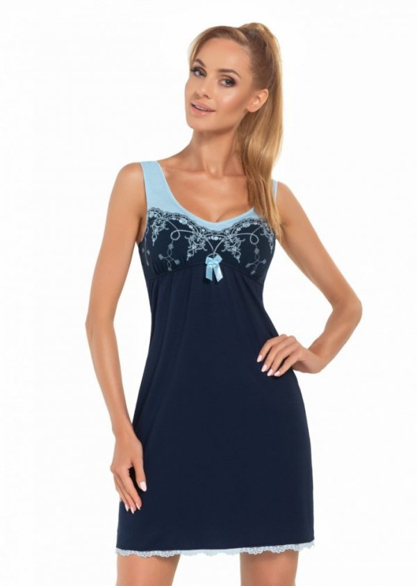 Donna Karina tmavě modrá Noční košile