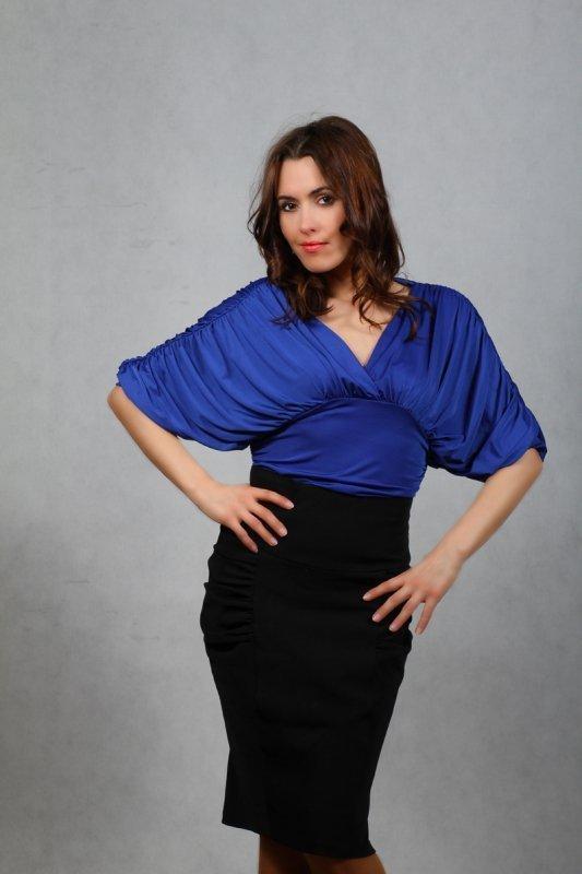 Vittoria Ventini Blanche Halenka safírová