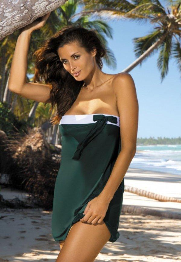 Plážová tunika Marko Mia Woody M-241 Tmavě zelená
