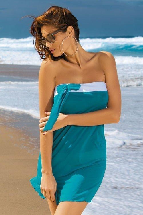 Plážová tunika Marko Mia Luxury M-241 mořská zelená