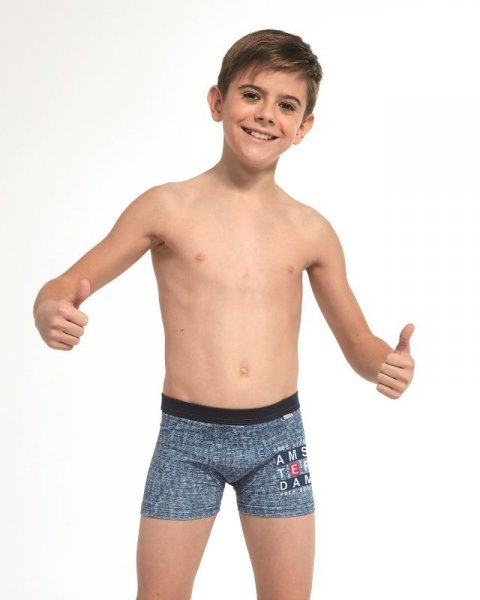 Cornette Young Boy 70092 Amsterdam Chlapecké boxerky 134-140 jeans
