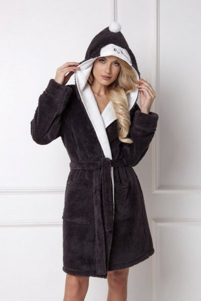 Aruelle Arctic Peggy Bathrobe Dámský župan L dark grey