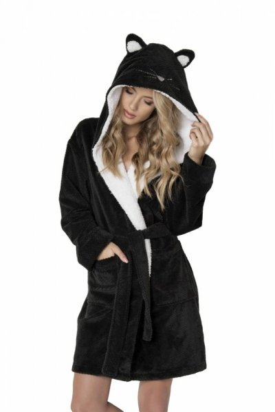 Aruelle Cattie Bathrobe Dámský župan M black