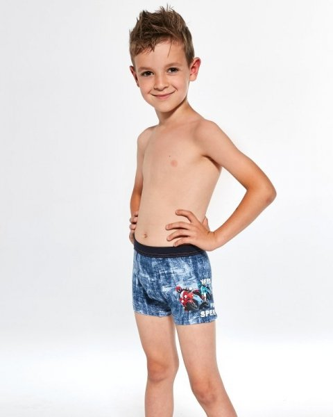 Cornette Kids Boy 70196 Need For Speed Chlapecké boxerky 122-128 jeans melanž