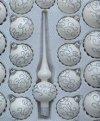 Zestaw dekorowany 39 szt. biała emalia