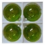 Bombki przezroczyste 12 cm 4 szt zielone