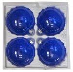 Bombki przezroczyste 10 cm 4 szt niebieskie