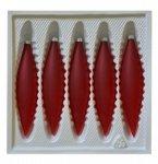 Bombki przezroczyste SOPLE 5 szt czerwony mat