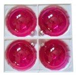 Bombki przezroczyste 12 cm 4 szt różowe