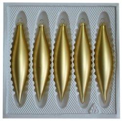 Sople gładkie 5 szt. złoty mat