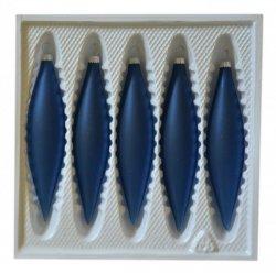 Bombki przezroczyste SOPLE 5 szt niebieski mat