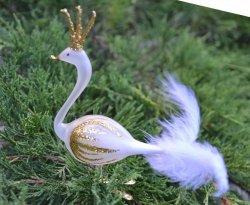 Łabędz biało-złoty