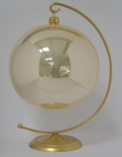 Bombka gładka duża 15 cm ecru opal