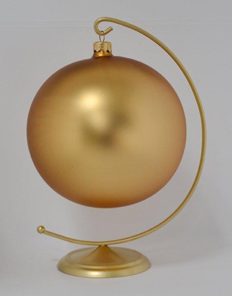 Bombka gładka duża 15 cm złoty mat