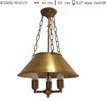 Żyrandol mosiężny JBT Stylowe Lampy WZMB/W29/3