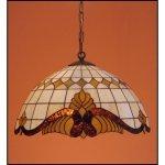 Lampa żyrandol zwis witraż Classic z karem 30cm