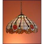 Lampa żyrandol zwis witraż AKSAMIT 30cm
