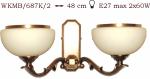 Kinkiet mosiężny JBT Stylowe Lampy WKMB/687K/2