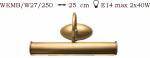 Kinkiet mosiężny JBT Stylowe Lampy WKMB/W27/250